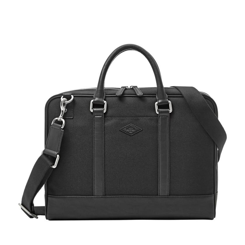 Fossil  Robert Top Zip Workbag  Black 22606381