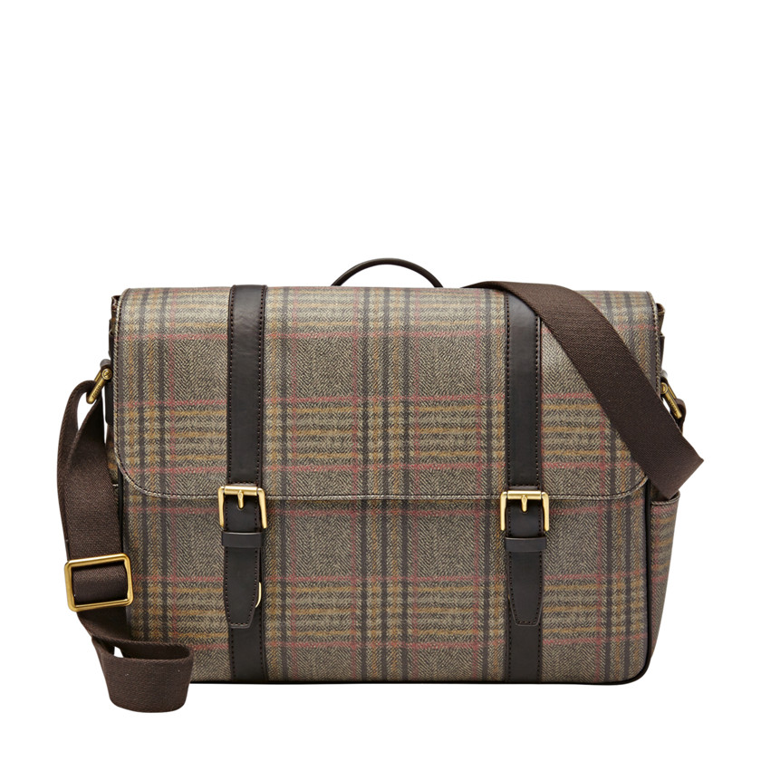 Fossil  Estate EW Messenger  plaid 22566426