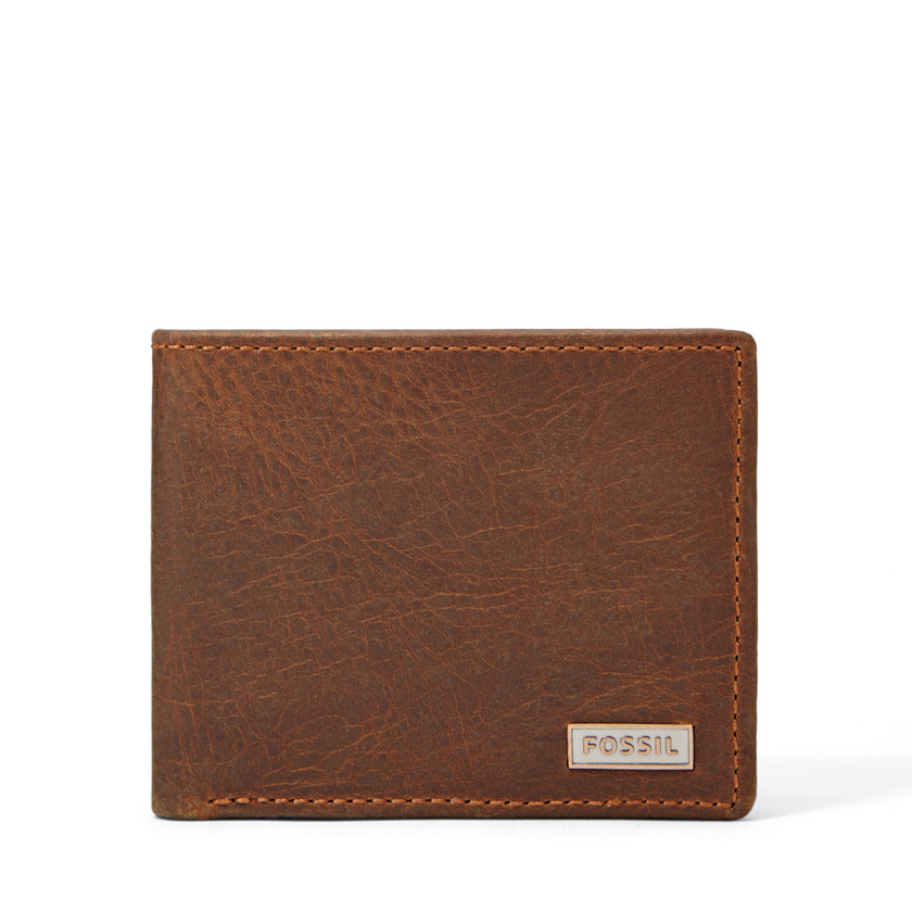 Fossil  Garrison Traveler Wallet  Dark Brown 22525482