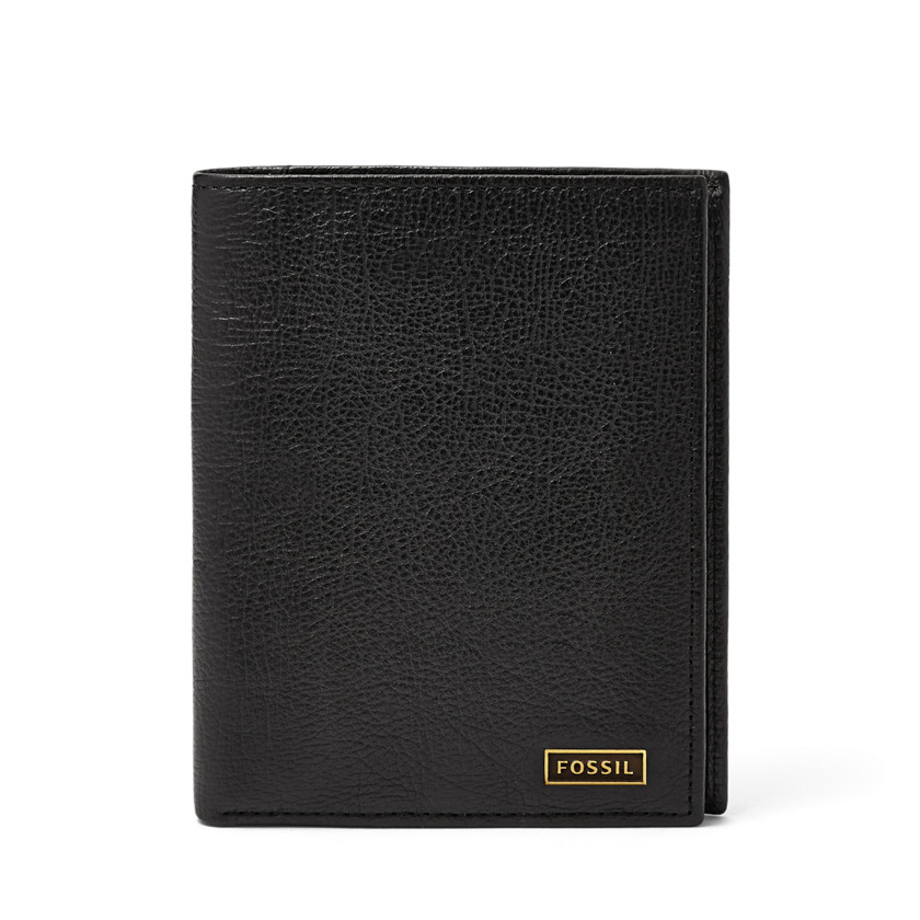 Fossil  Omega Slim Travel Wallet  Black 22566516