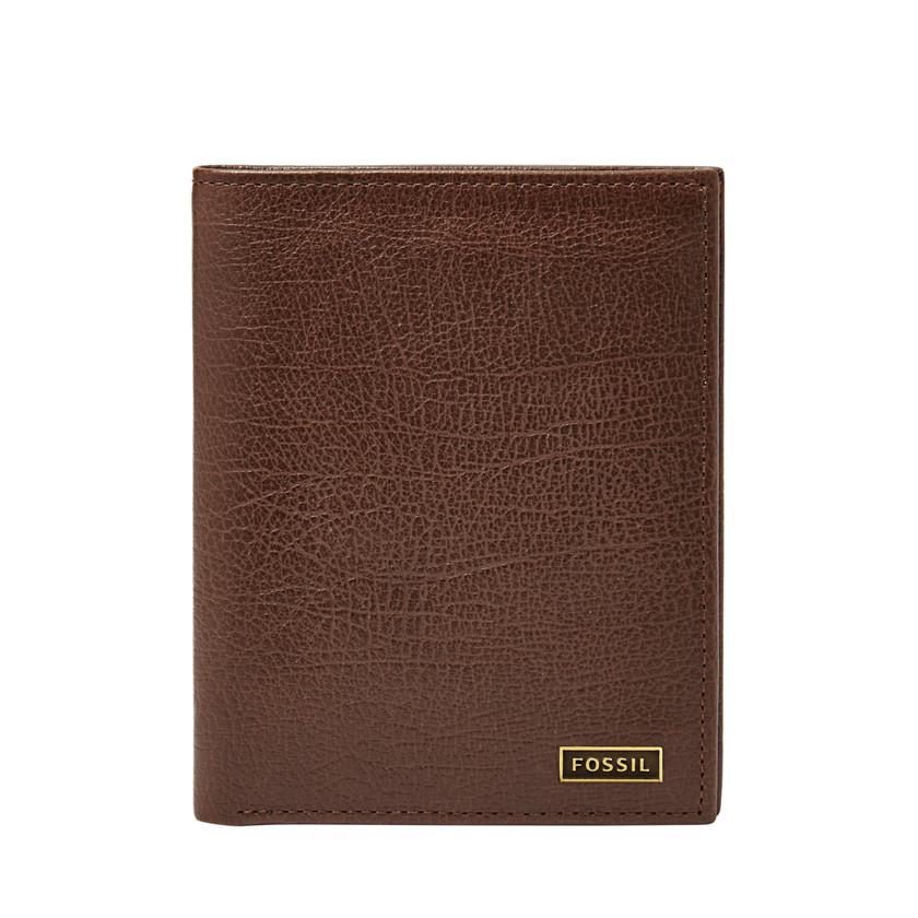 Fossil  Omega Slim Travel Wallet  Dark Brown 22566516