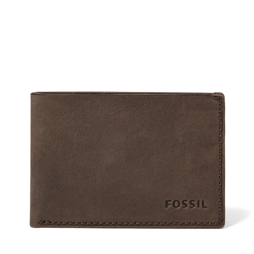 Fossil  Nova Slim Coin Pocket Bifold  Brown 22566540