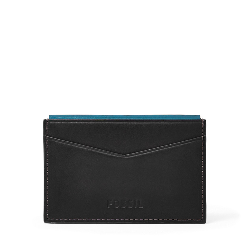 Fossil  Elison Card Case  Black 22573866