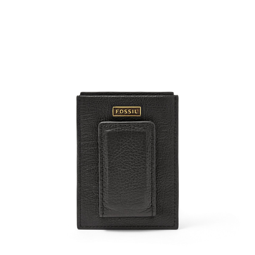 Fossil  Omega Magnetic Card Case  Black 22606441