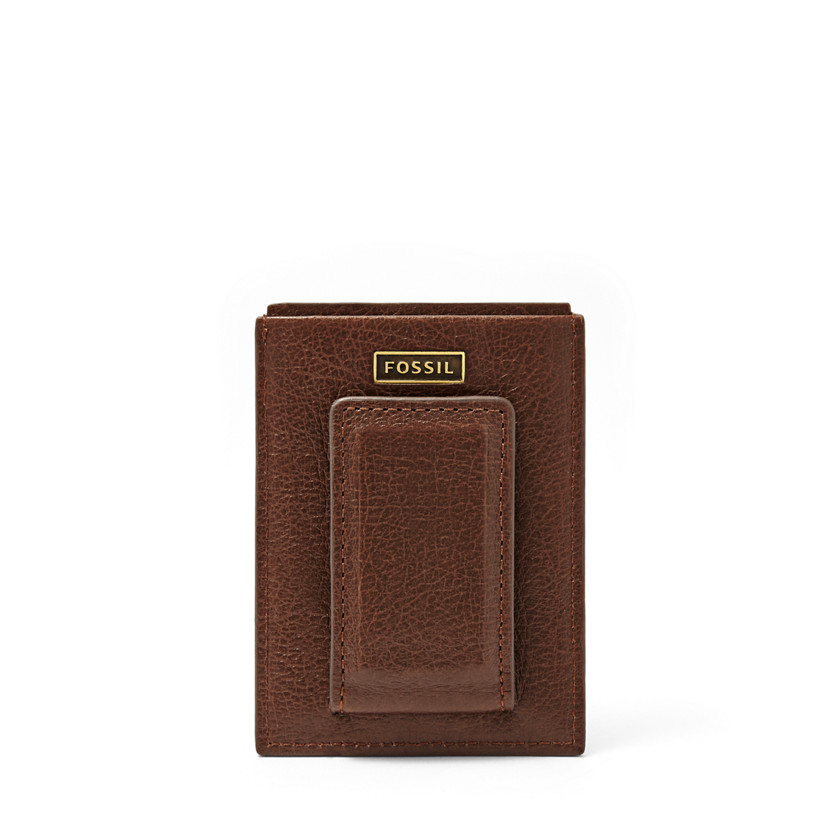 Fossil  Omega Magnetic Card Case  Dark Brown 22606441