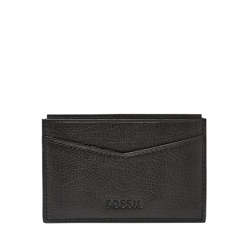 Fossil  Omega Card Case  Black 22566645