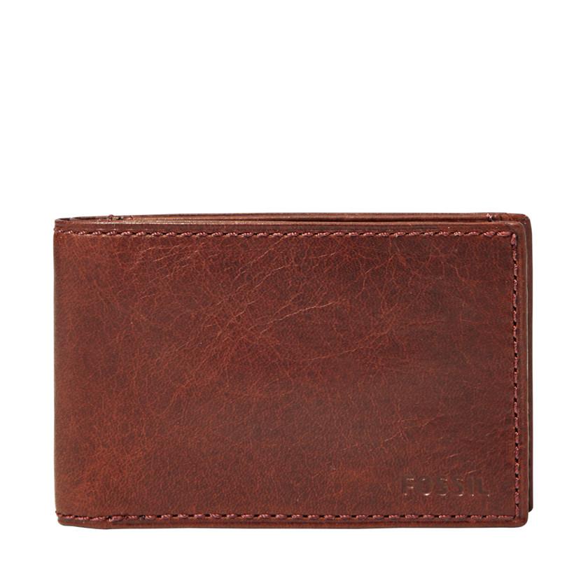 Fossil  Ingram Coin Pocket Bifold  Wine 22566792