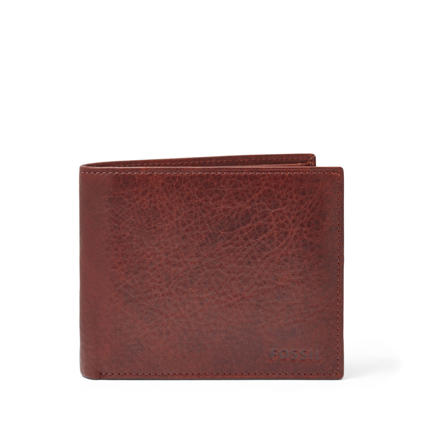 Fossil  Ingram Large Coin Pocket Bifold  WINE 22573944