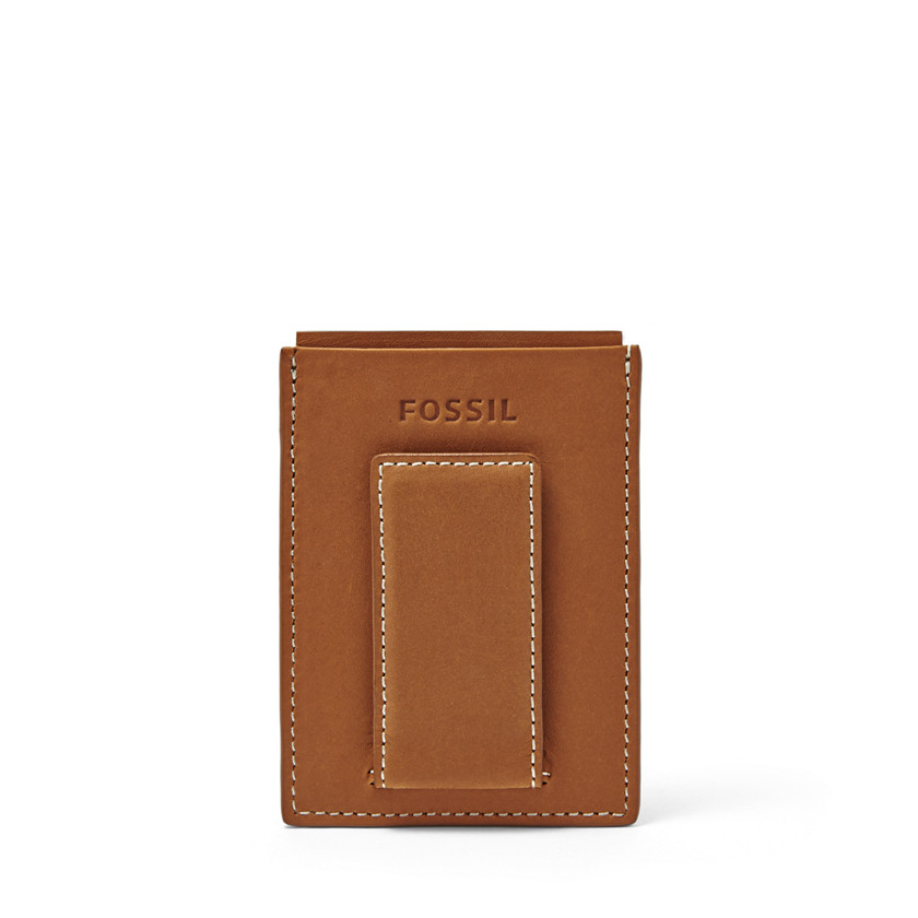 Fossil  Ramsey Magnetic Card Case  Saddle 22606469
