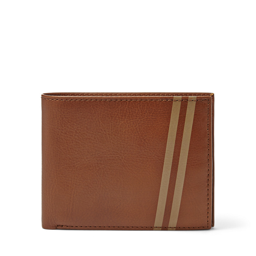 Fossil  Conway Large Coin Pocket Bifold  Cognac 22606555