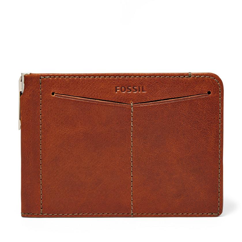 Fossil  Slim Passport Sleeve  Cognac 22566665