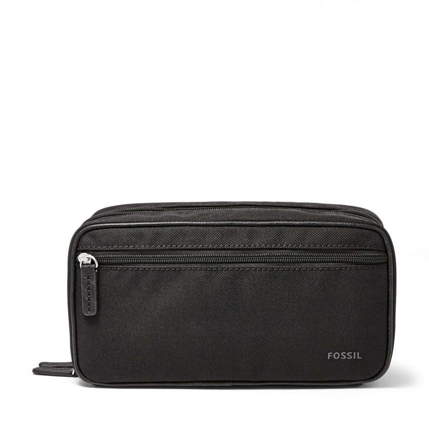Fossil  Double Zip Travel Kit  Black 22566706