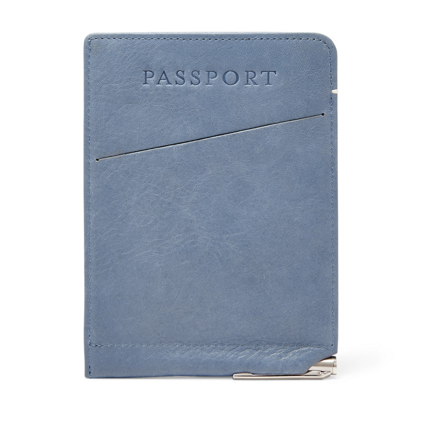 Fossil  Slim Passport Sleeve  Vintage Blue 22606638
