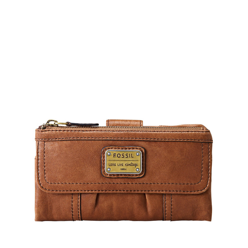 Fossil  Emory Clutch  Saddle 22247432