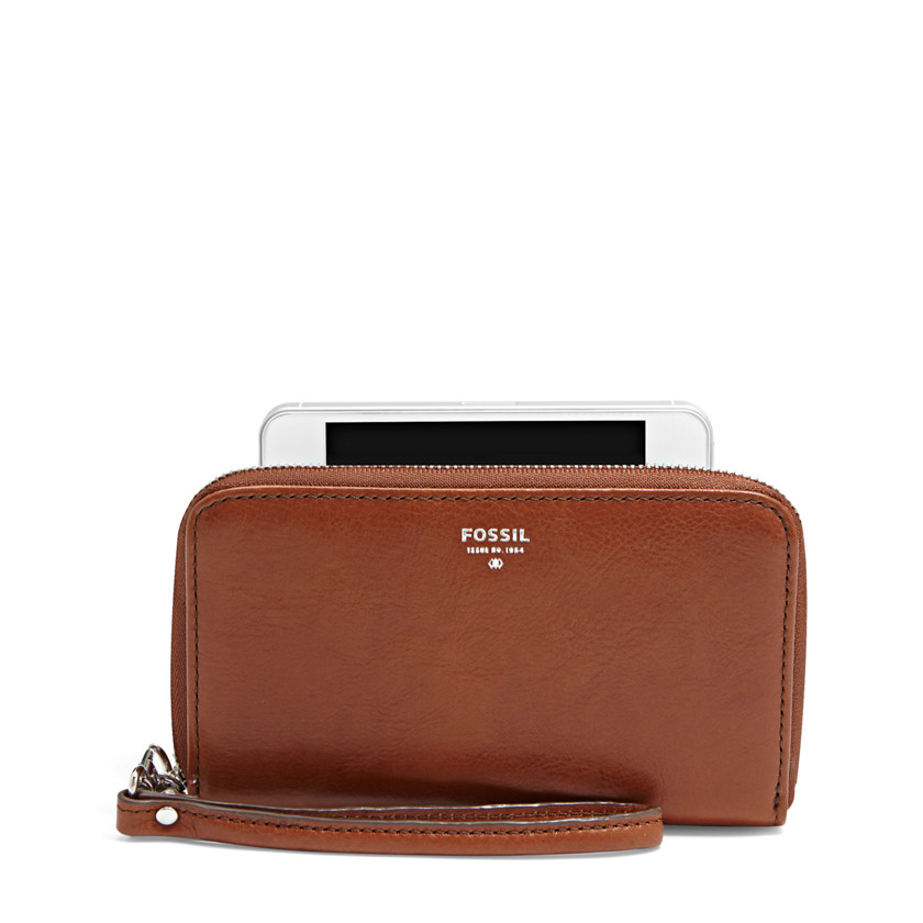 Fossil  Sydney Zip Phone Wallet  Brown 22455520