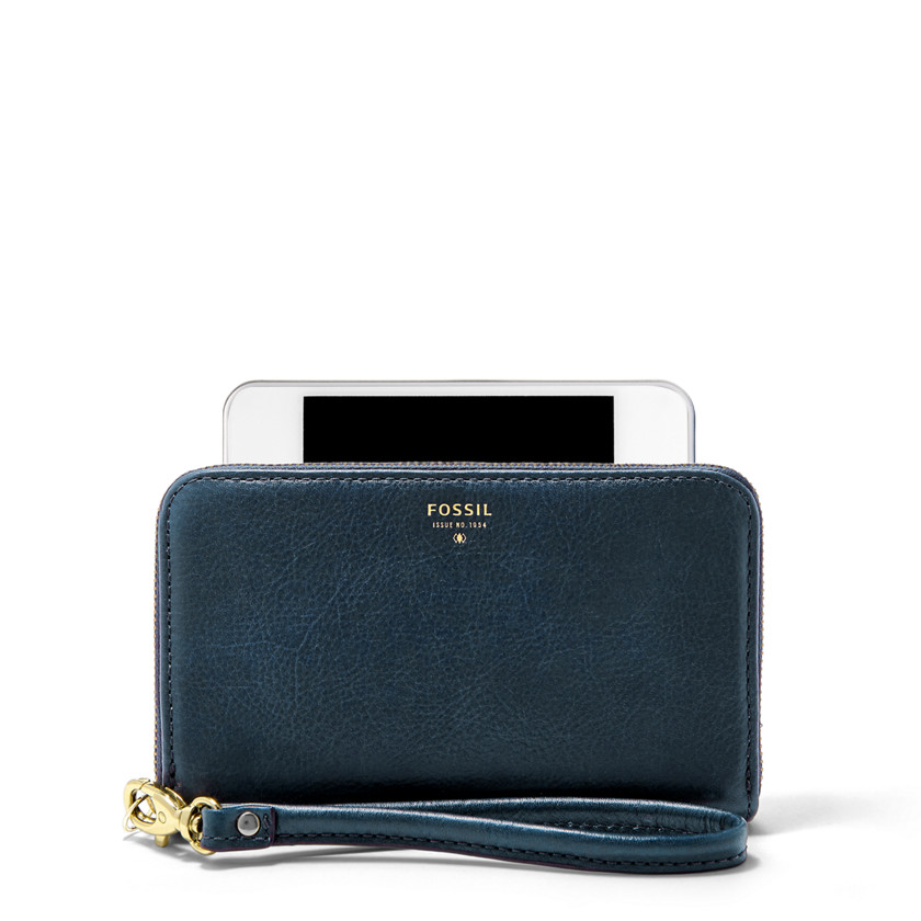 Fossil  Sydney Zip Phone Wallet  Heritage Blue 22455520