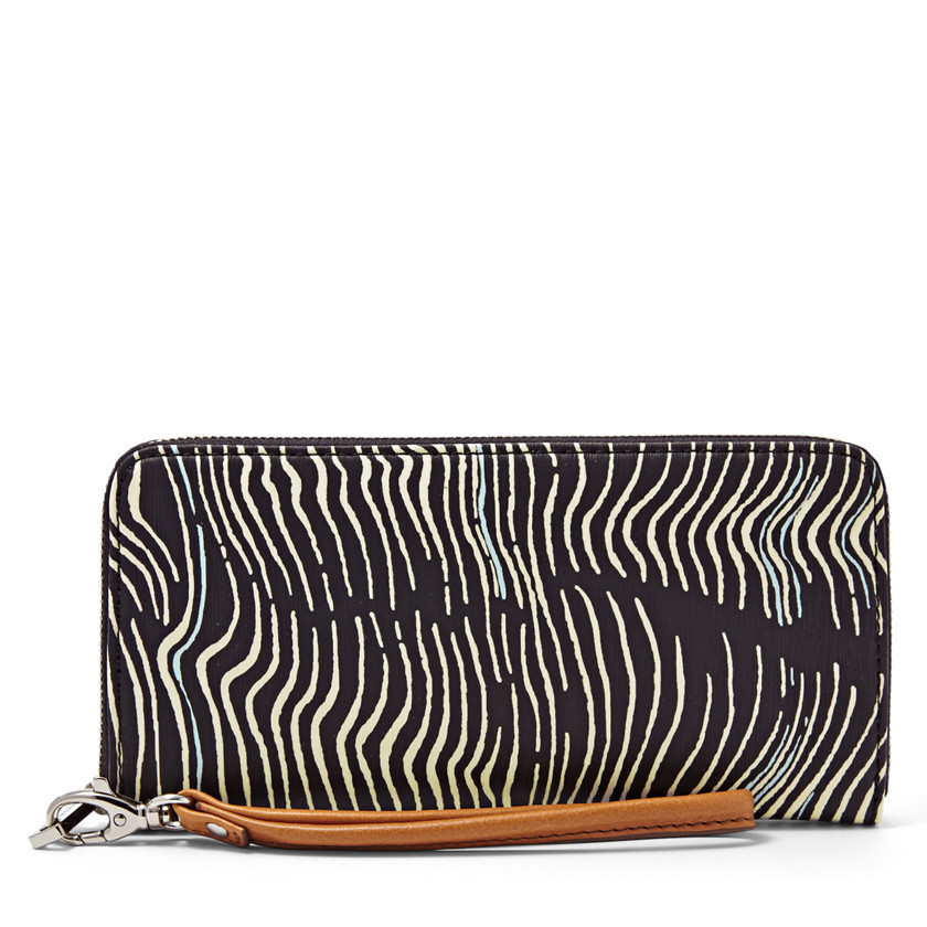 Fossil  Sydney Zip Clutch  WHITE\/BLACK 22455568