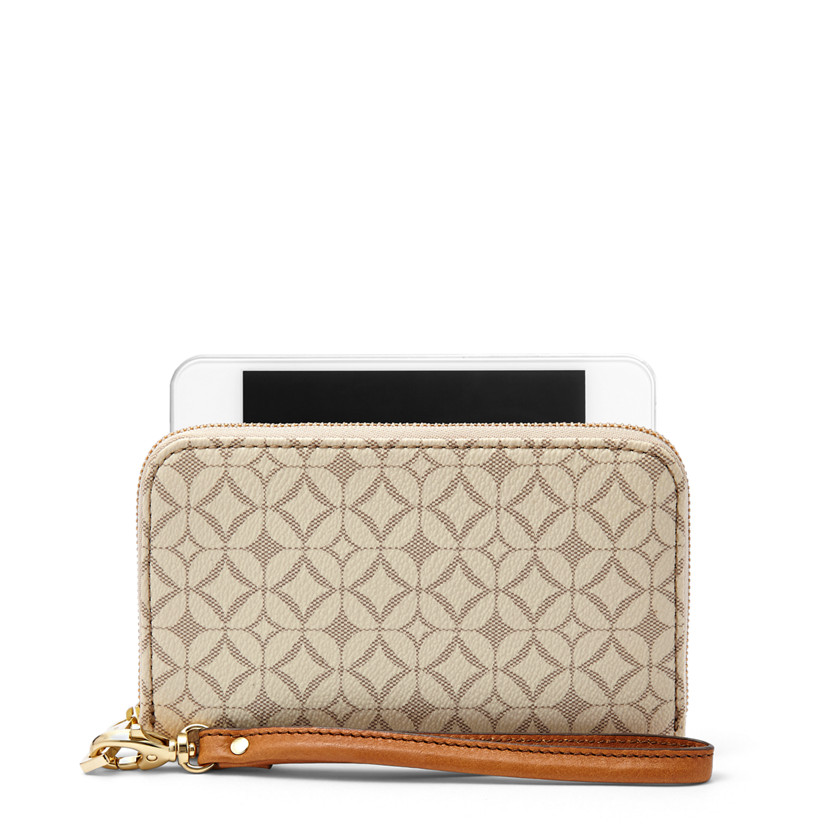 Fossil  Sydney Zip Phone Wallet  BONE 22502839
