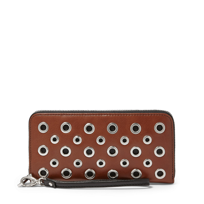 Fossil  Sydney Zip Clutch  Brown 22571213