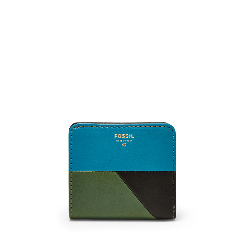 Fossil  Giftable Patchwork Bifold  Green Multi 22571365