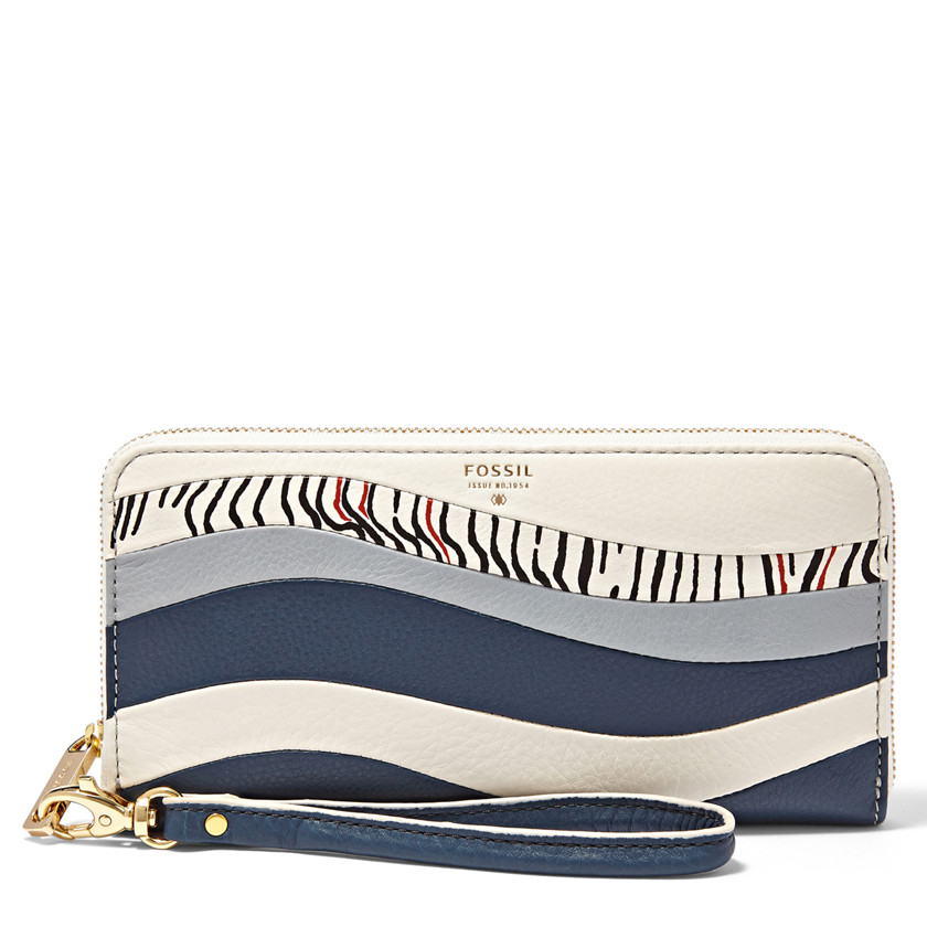 Fossil  Sydney Zip Clutch  HERITAGE BLUE 22604830