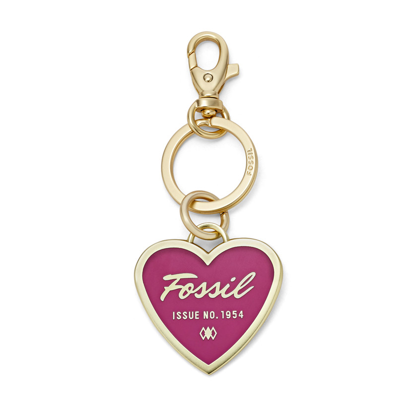 Fossil  Printed Heart Key Chain  FUCHSIA 22605427