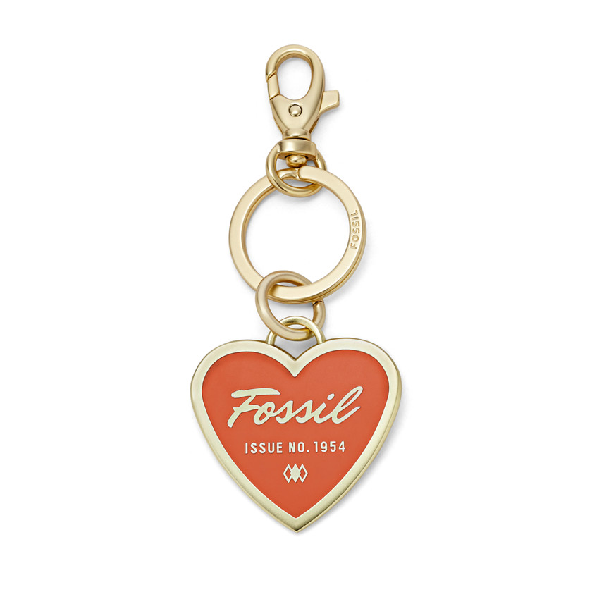 Fossil  Printed Heart Key Chain  MONARCH 22605427