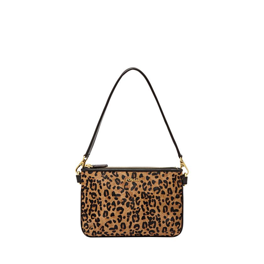 Fossil  Memoir Pocketbook Top Zip  Cheetah 22456404