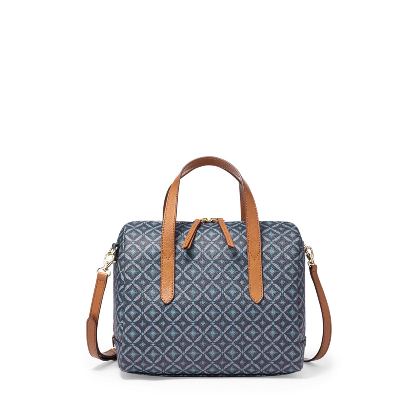 Fossil  Sydney Satchel  Blue Multi 22456471