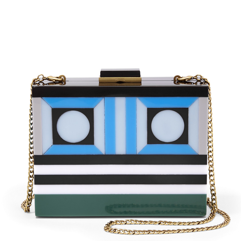 Fossil  Robot Resin Clutch  Blue Multi 22570662