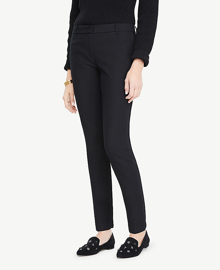 The Tall Ankle Pant In Dense Twill by Ann Taylor