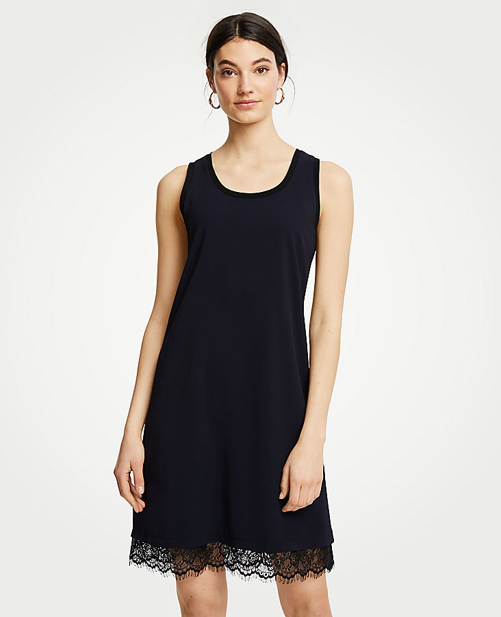 Lace Hem Tank Dress by Ann Taylor