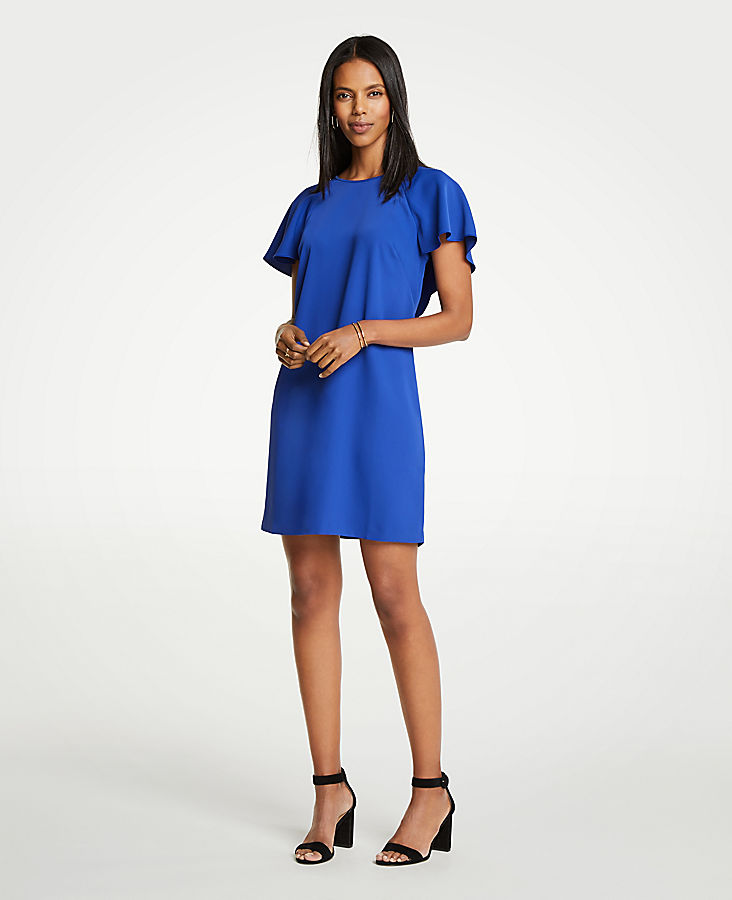 V Back Flutter T Shirt Dress by Ann Taylor