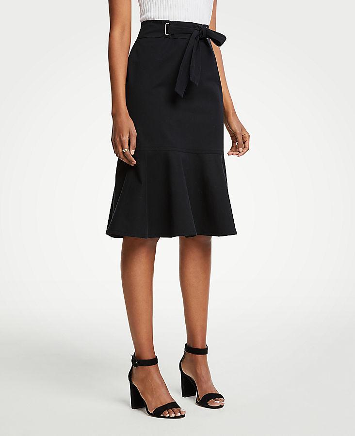 Tie Waist Flounce Skirt by Ann Taylor