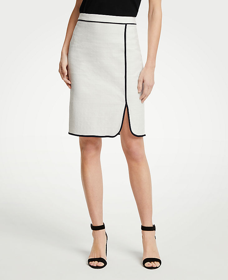 Piped Pencil Skirt by Ann Taylor
