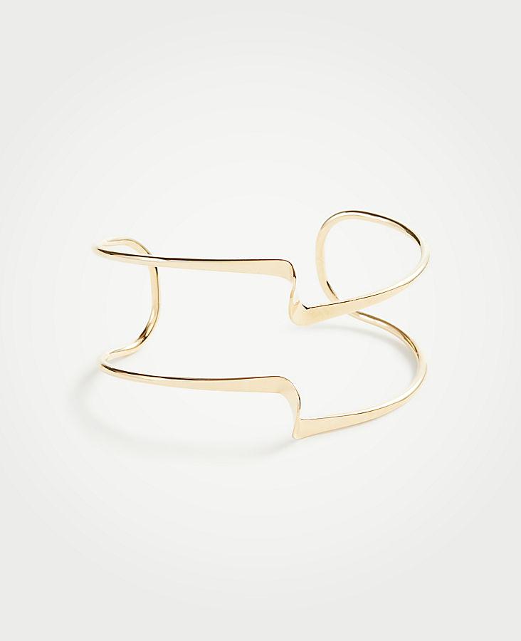 Sculptural Cuff Bracelet by Ann Taylor