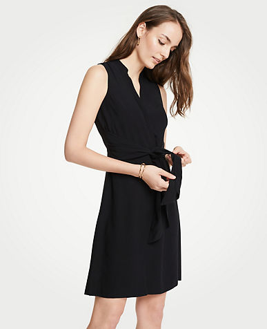 앤테일러 셔츠 원피스 Ann Taylor Tie Front Shirtdress