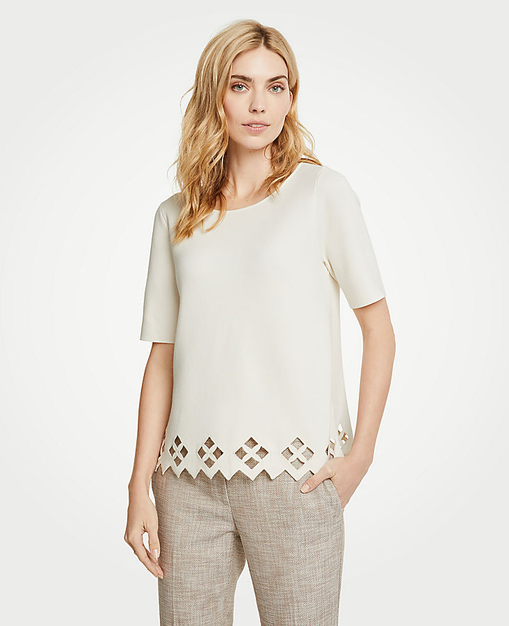 Lattice Cutout Sweater by Ann Taylor