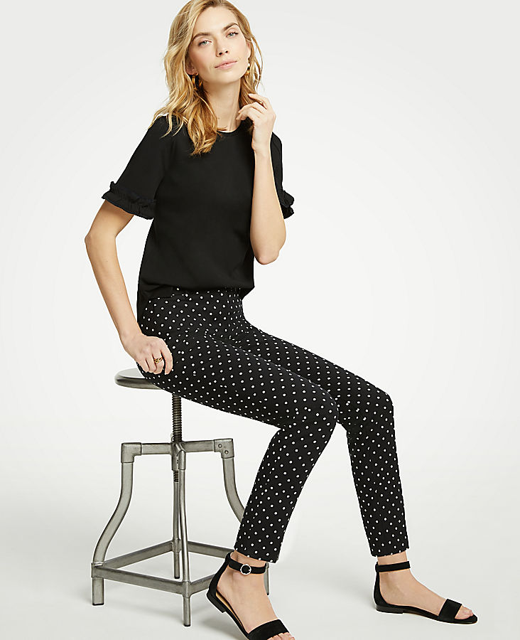 The Tall Ankle Pant In Polka Dot by Ann Taylor