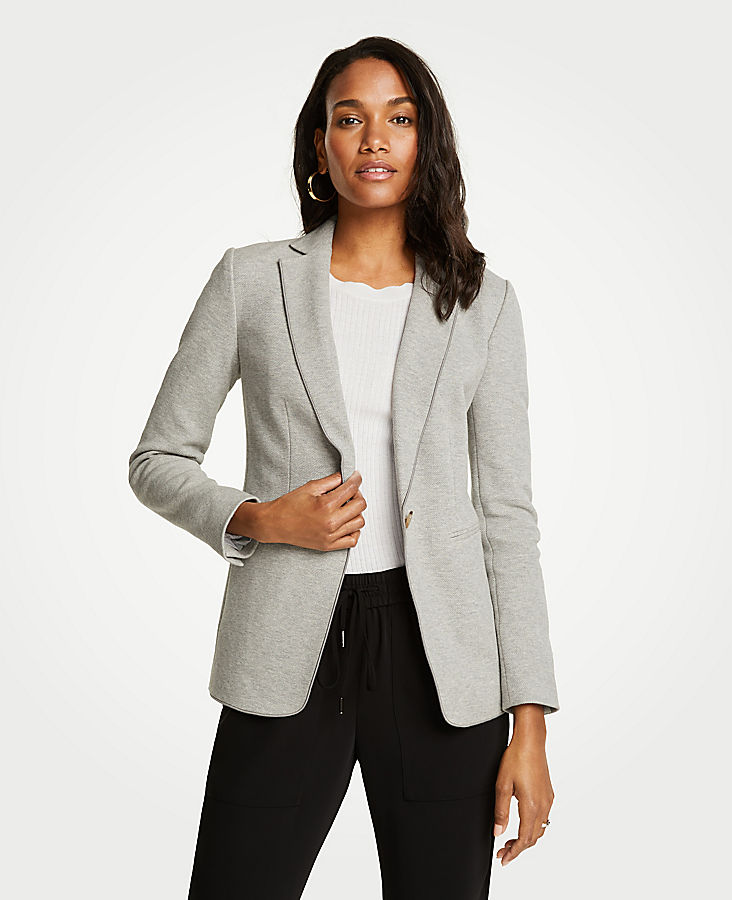 The Petite Knit Blazer by Ann Taylor