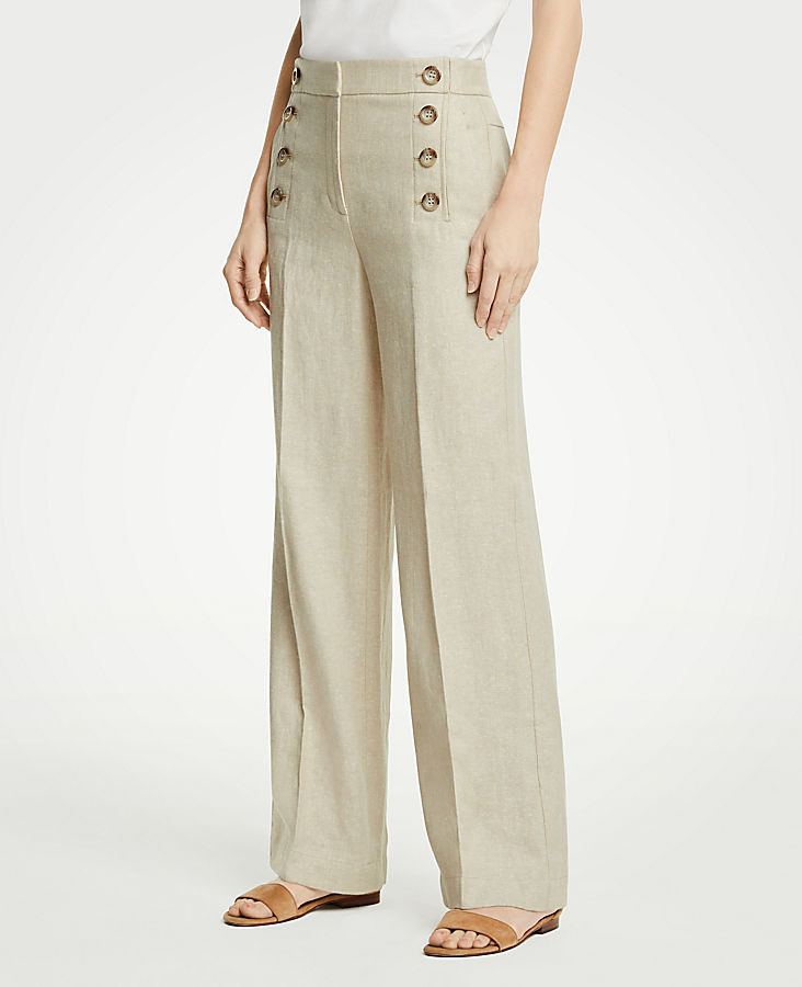 Petite Wide Leg Sailor Pants by Ann Taylor