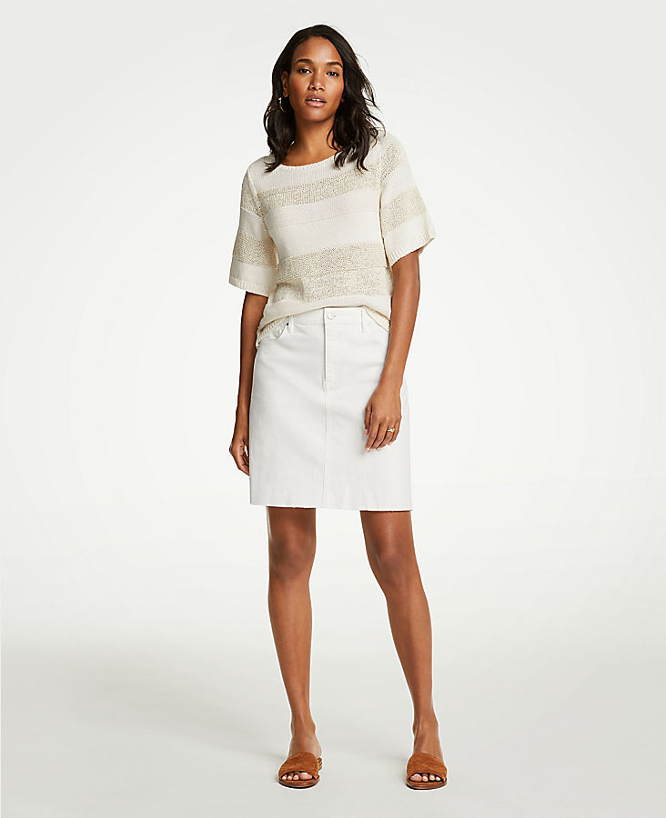 Petite Released Hem Denim Skirt by Ann Taylor