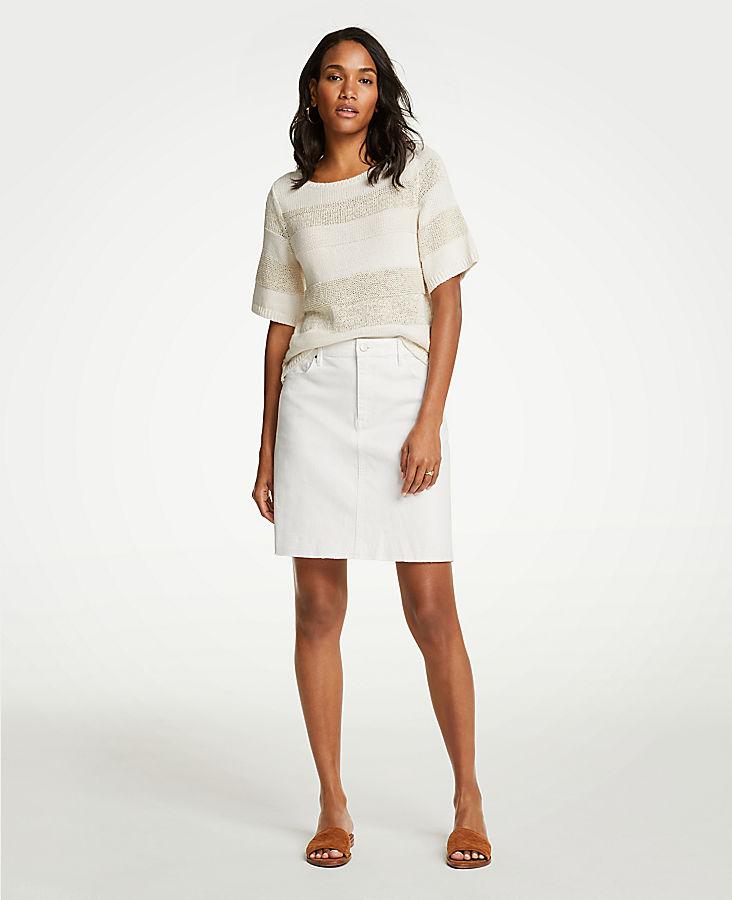 petite-released-hem-denim-skirt by ann-taylor