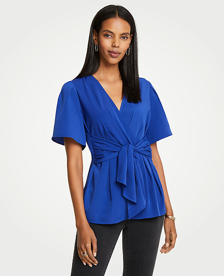 Tie Wrap Top by Ann Taylor