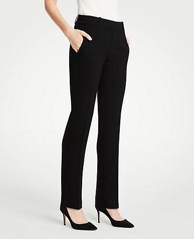 앤테일러 긴바지 Ann Taylor The Straight Leg Pant In Doubleweave,Black