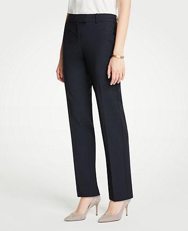 앤테일러 긴바지 Ann Taylor The Straight Leg Pant In Tropical Wool - Classic Fit
