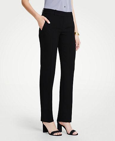앤테일러 긴바지 Ann Taylor The Straight Leg Pant In Doubleweave - Curvy Fit,Black