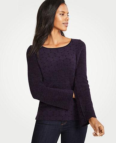 앤테일러 Ann Taylor Dotted Chenille Sweater