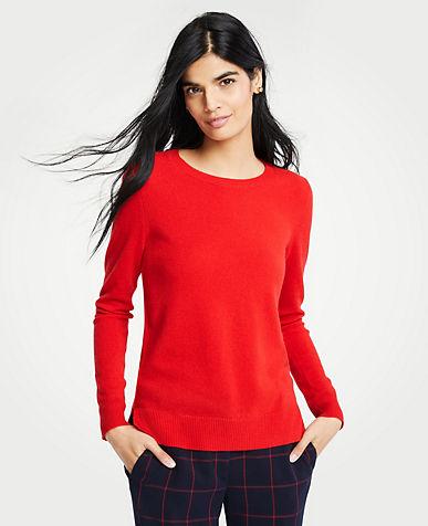 앤테일러 Ann Taylor Cashmere Crew Neck Sweater
