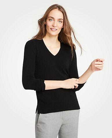 앤테일러 Ann Taylor Cashmere V-Neck Sweater